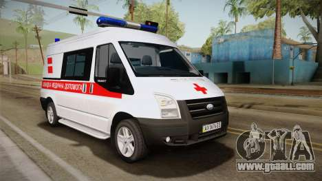 Ford Transit Ambulance of the city of Kharkov for GTA San Andreas
