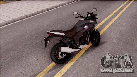 Honda CB500X Turkish Police Motorcycle for GTA San Andreas back left view
