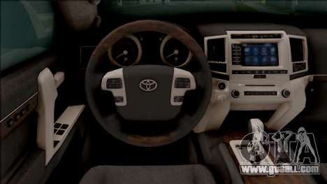 Toyota Land Cruiser 200 Russian Police for GTA San Andreas inner view