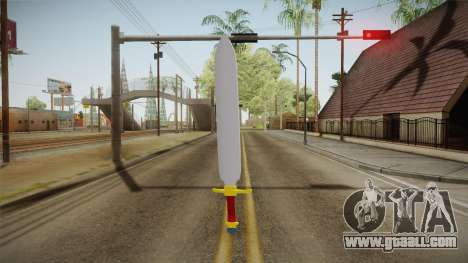 Z Sword From DBZ for GTA San Andreas third screenshot