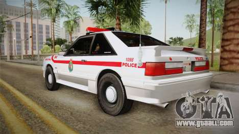 Ford Mustang SSP 1993 YRP for GTA San Andreas left view