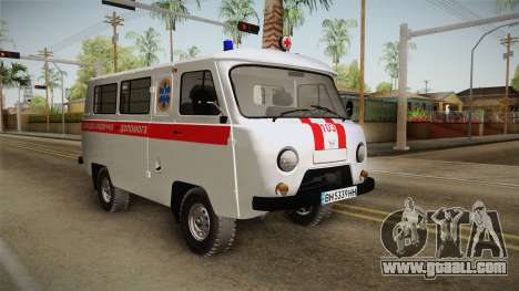 UAZ-452 Ambulance of the city of Odessa for GTA San Andreas back left view