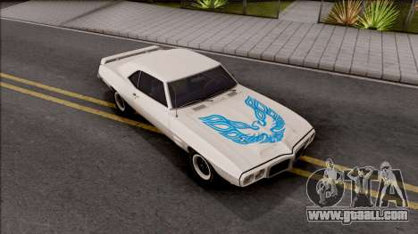 Pontiac Firebird Trans Am Coupe 1969 for GTA San Andreas side view
