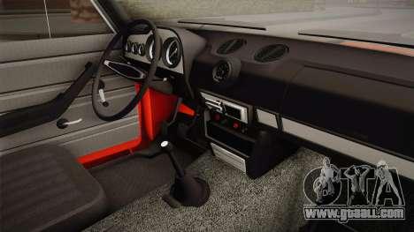 VAZ 2106 Resto for GTA San Andreas inner view