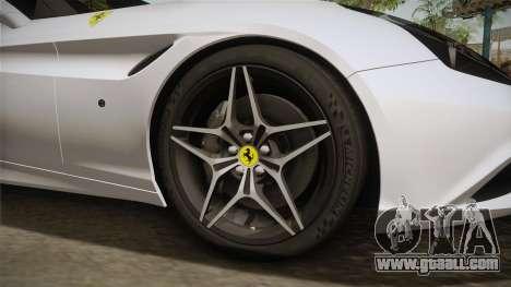 Ferrari California T for GTA San Andreas back view
