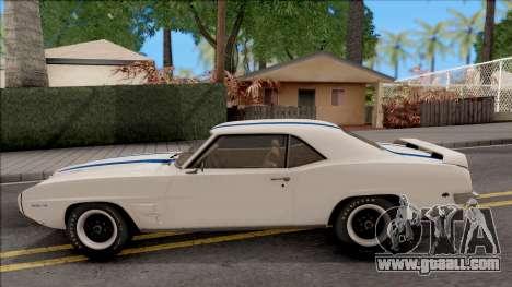 Pontiac Firebird Trans Am Coupe 1969 for GTA San Andreas left view