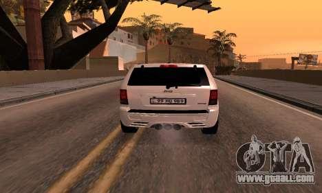 Jeep Grand Cherokee SRT8 Armenian for GTA San Andreas back view
