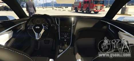 GTA 5 Infiniti Q60 Concept 2016 rear left side view