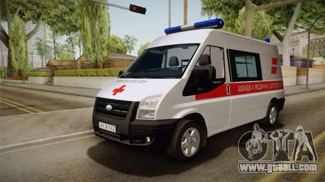 Ford Transit Ambulance of the city of Kharkov for GTA San Andreas back left view