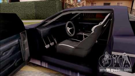 BlueRay Infernus R v1 for GTA San Andreas inner view