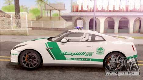 Nissan GT-R R35 Dubai High Speed Police for GTA San Andreas left view