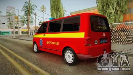 Volkswagen T5 Border Police for GTA San Andreas left view