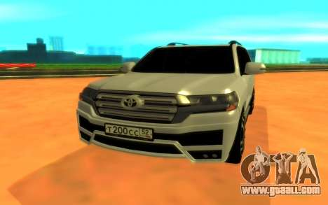 Toyota Land Cruiser 200 for GTA San Andreas right view