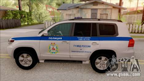 Toyota Land Cruiser 200 Russian Police for GTA San Andreas left view