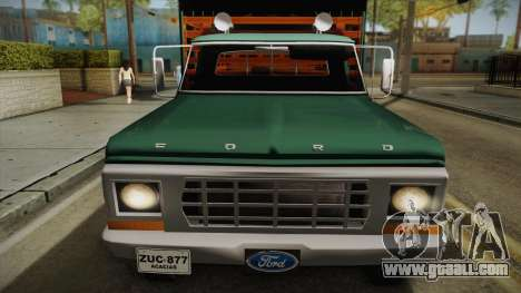 Ford F-350 1978 for GTA San Andreas back left view
