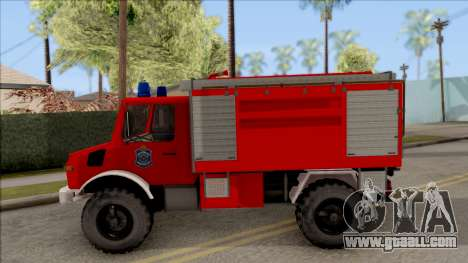 Mercedes-Benz Unimog Vatrogasna Kamion for GTA San Andreas left view