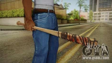 Lucille Negan Baseball Bat The Walking Dead for GTA San Andreas third screenshot