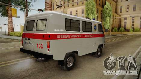 UAZ-452 Ambulance of the city of Odessa for GTA San Andreas right view