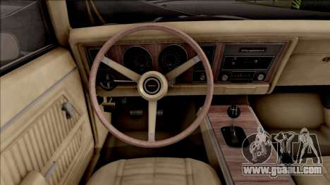 Pontiac Firebird Trans Am Coupe 1969 for GTA San Andreas back view