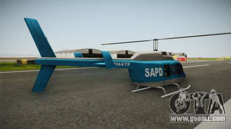 Serbian Police Helicopter for GTA San Andreas right view