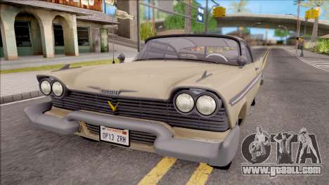 Plymouth Belvedere 1958 IVF for GTA San Andreas