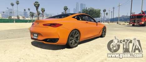 GTA 5 Infiniti Q60 Concept 2016 left side view