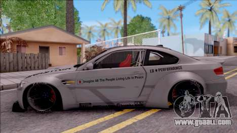 BMW M3 E92 Liberty Walk Performance 2013 for GTA San Andreas left view