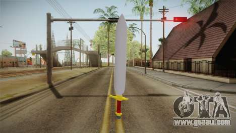 Z Sword From DBZ for GTA San Andreas second screenshot