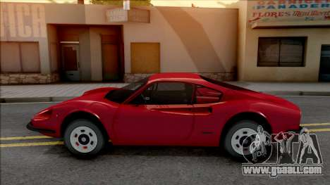Ferrari Dino 264 1969 for GTA San Andreas left view