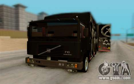 Volvo F10 for GTA San Andreas back view