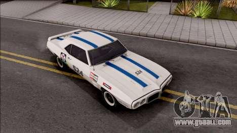 Pontiac Firebird Trans Am Coupe 1969 for GTA San Andreas upper view