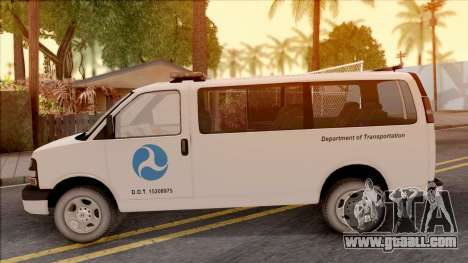 Chevrolet Express San Andreas DOT 2010 for GTA San Andreas left view