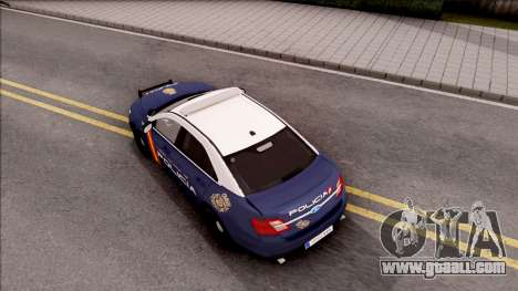 Ford Taurus Spanish Police for GTA San Andreas back view
