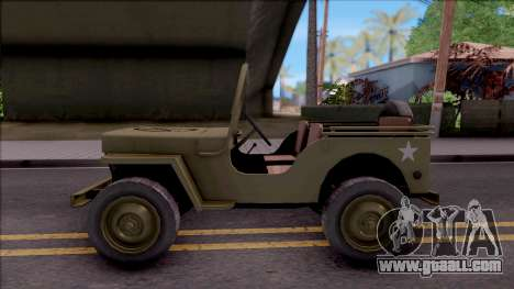 Jeep Willys MB Military for GTA San Andreas left view