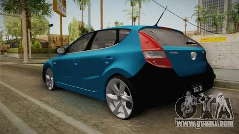Hyundai i30 Double Color for GTA San Andreas back left view
