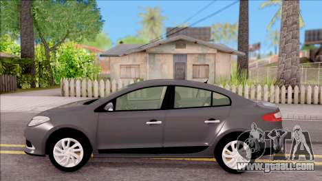 Renault Fluence 2016 for GTA San Andreas left view
