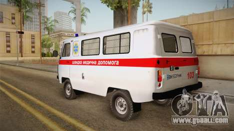 UAZ-452 Ambulance of the city of Odessa for GTA San Andreas left view