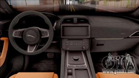 Jaguar F-Pace S for GTA San Andreas inner view
