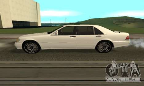 Mercedes-Benz S600 Armenian for GTA San Andreas back left view