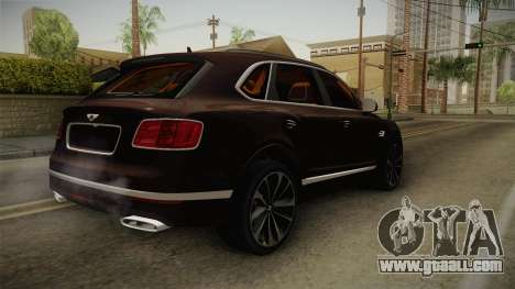 Bentley Bentayga for GTA San Andreas back left view