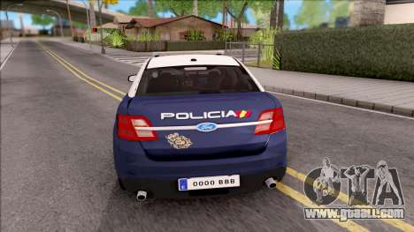 Ford Taurus Spanish Police for GTA San Andreas back left view