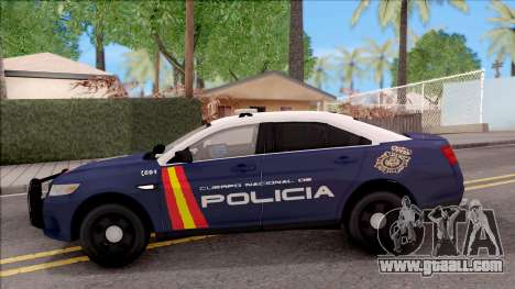 Ford Taurus Spanish Police for GTA San Andreas left view