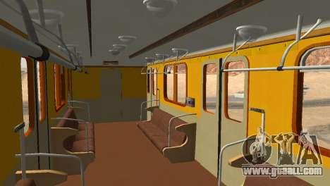 Metrostav type E for GTA San Andreas interior