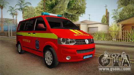 Volkswagen T5 Border Police for GTA San Andreas right view