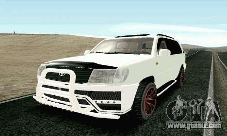 Toyota Land Cruiser 100 2017 for GTA San Andreas