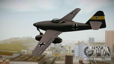 Messerschmitt Me-262 Schwalbe for GTA San Andreas right view