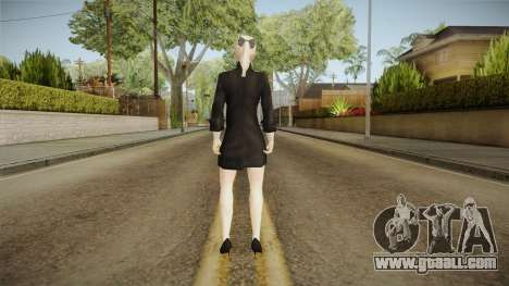Female Black Sweater One Piece v2 for GTA San Andreas third screenshot