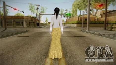 Kebaya Girl Skin for GTA San Andreas third screenshot
