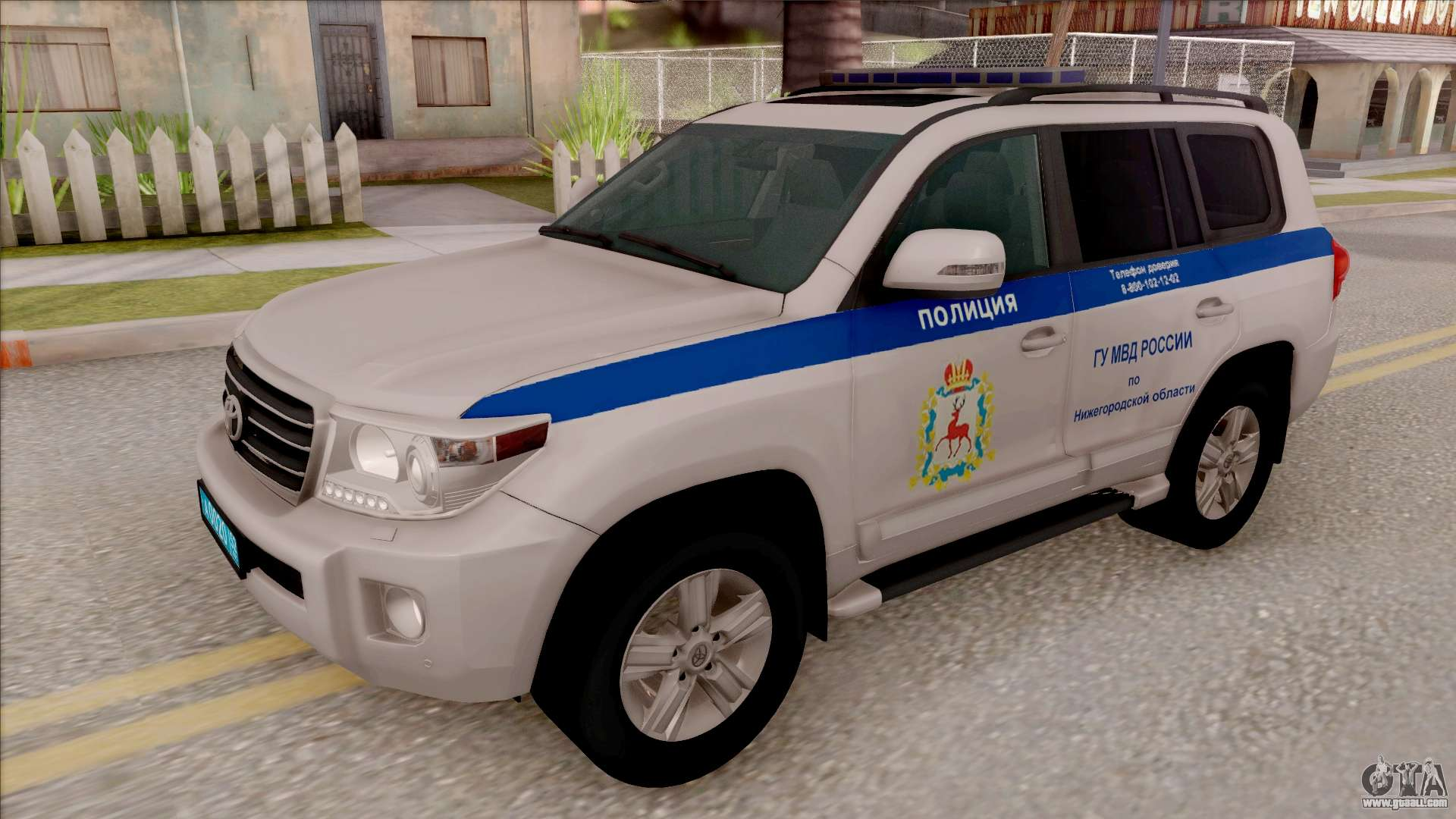 toyota land cruiser 200 russian police for gta san andreas. Black Bedroom Furniture Sets. Home Design Ideas