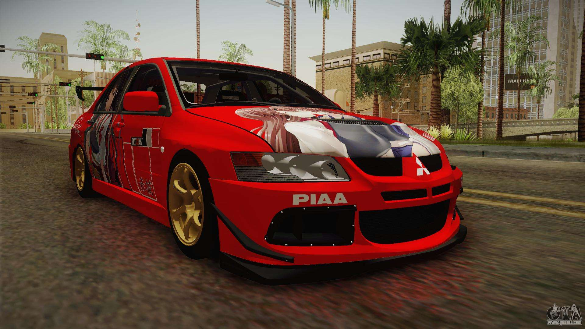 mitsubishi lancer evo viii mr akagi kaga itasha for gta. Black Bedroom Furniture Sets. Home Design Ideas